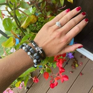 Beaded and Sterling Silver Bracelets